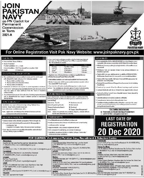 Latest 2020 Pak Navy Jobs