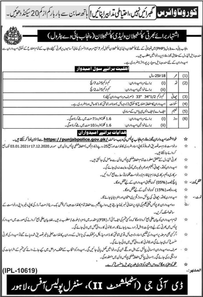 Motorway Police Jobs 2020 Punjab Highway