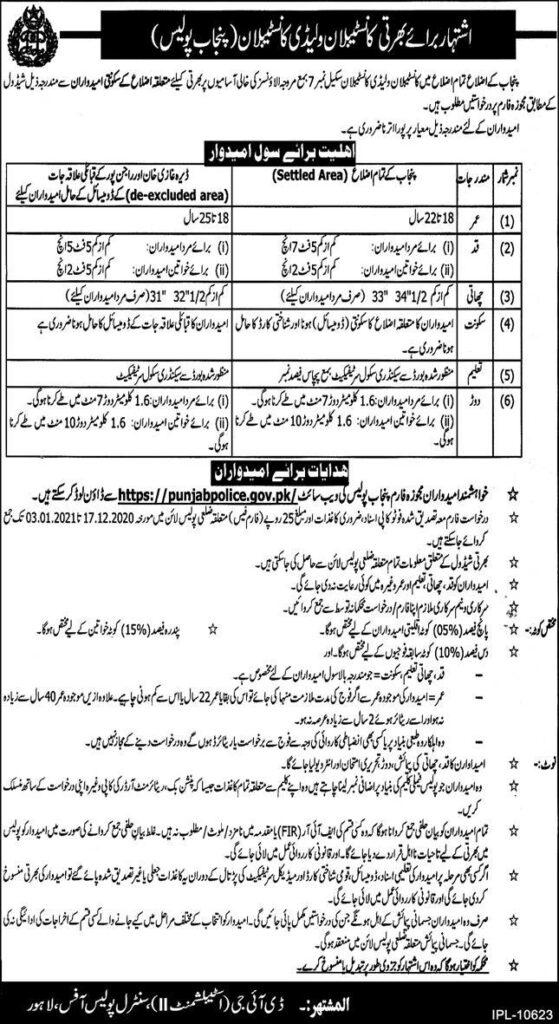 Punjab Police Jobs 2020 Online Apply